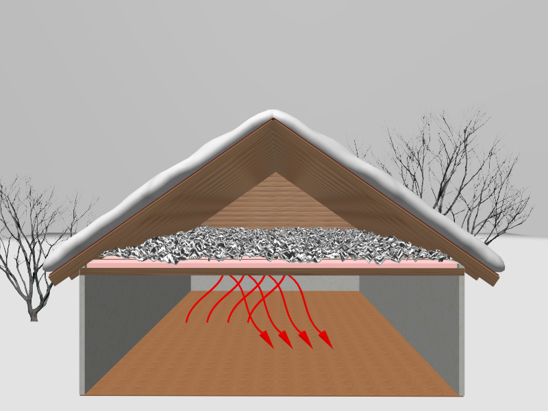Radiant Barrier Chips Or Add More Insulation
